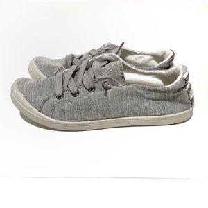 Dunes Sport Reesa Canvas Grey Fashion Sneakers NEW